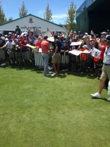 Jordan Spieth greets his fans